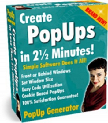 Product picture PopUp Generator with Master Resell Rights!